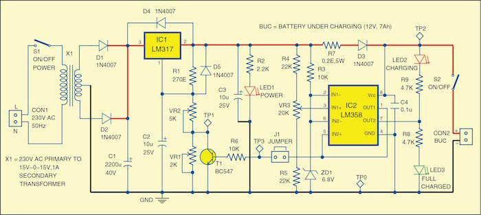 Astonishing 12V Battery Charger Detailed Project With Circuit Available Wiring Cloud Oideiuggs Outletorg