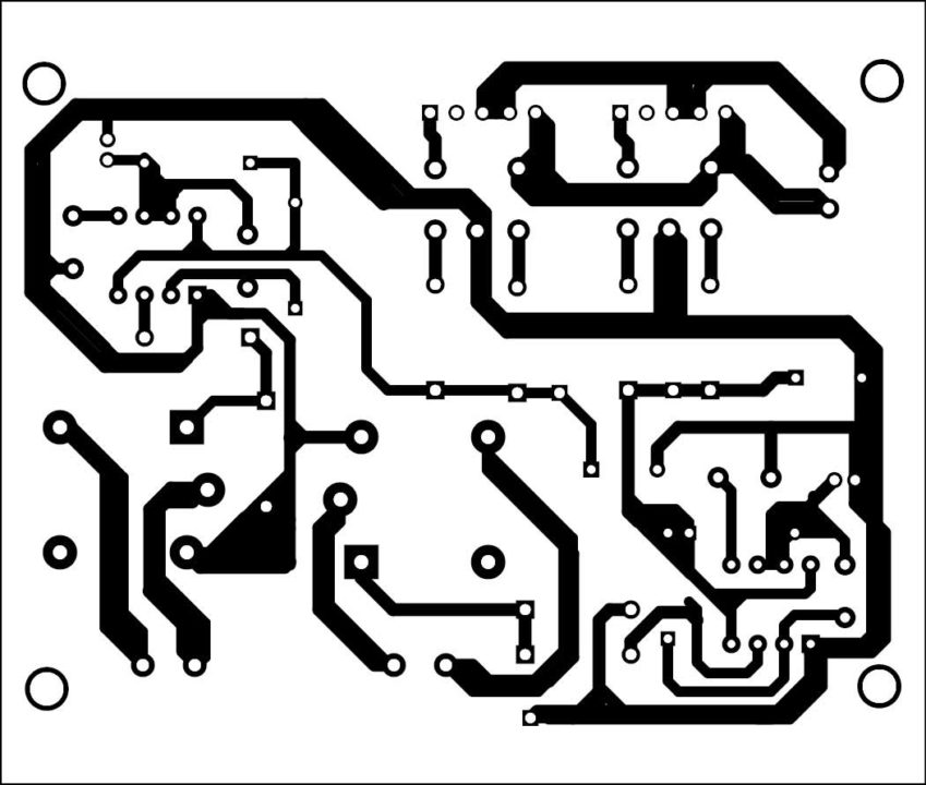 Fig. 6: Actual-size PCB of the 3-phase electric motor controller