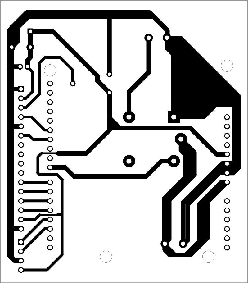 Fig 5Fig. 5: Actual-size PCB pattern of the fingerprint door unlock system