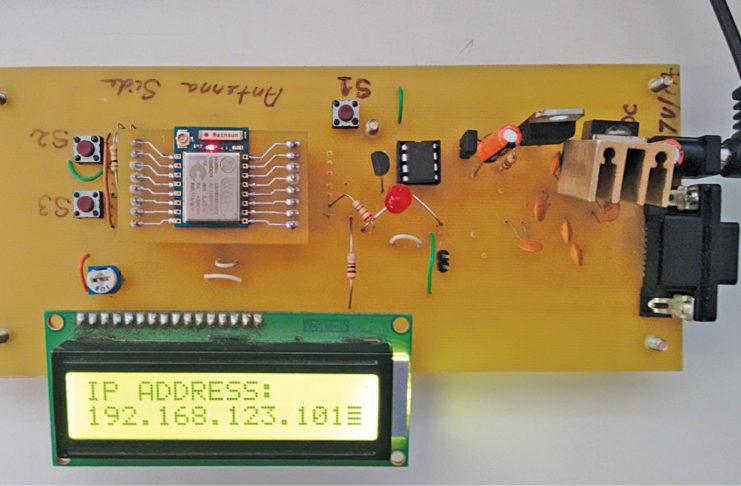 Fig. 1 Author's prototype of the esp8266 based wireless web server
