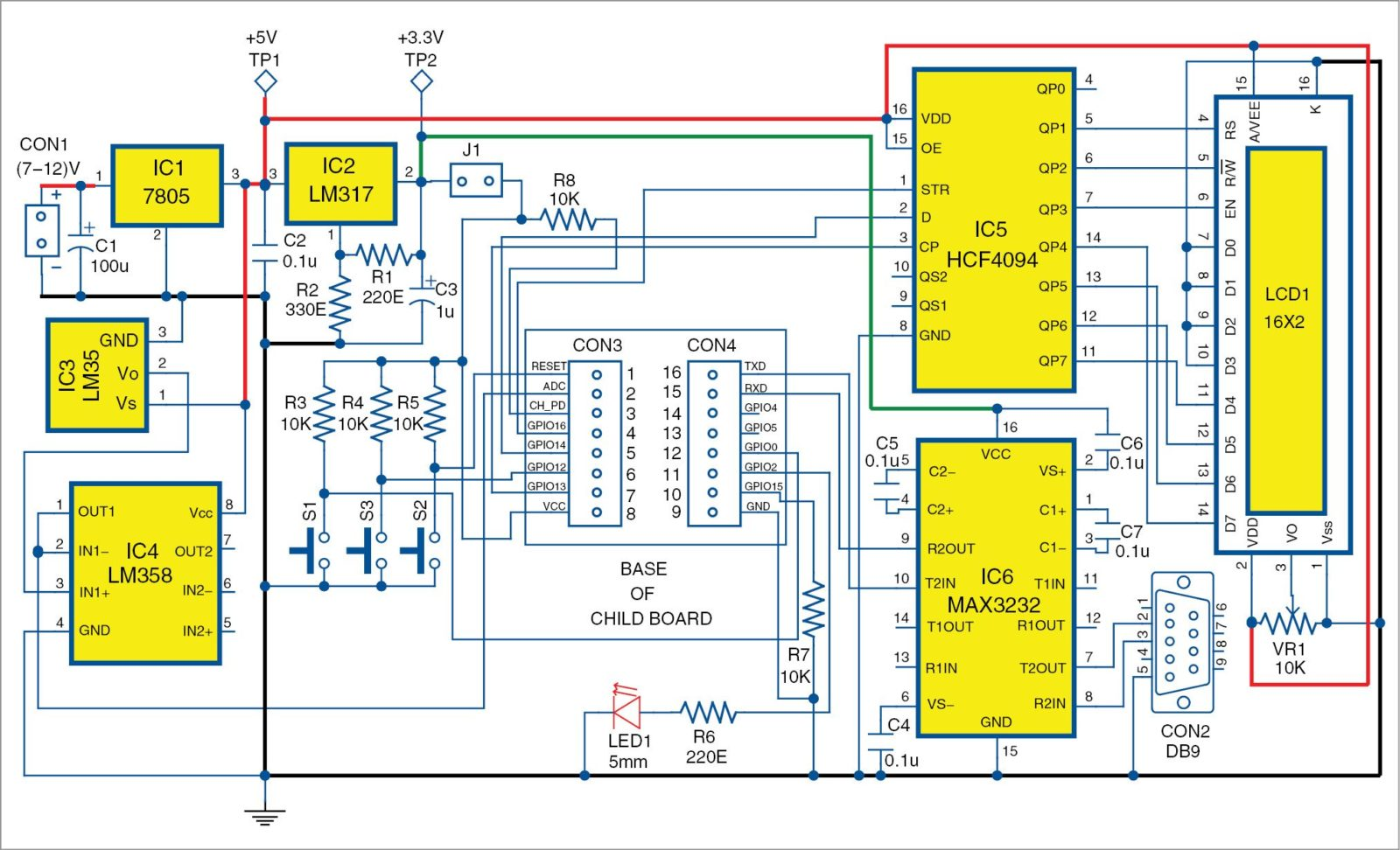 Fig. 3 Circuit diagram of the main board of the low cost ESP8266 based Wi Fi Web server 1 usb wifi adapter schematic diagram circuit and schematics diagram  at n-0.co