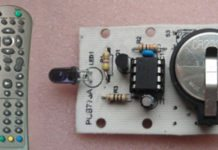 Infrared remote switch circuit