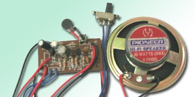 Low-Cost Intercom Circuit   Detailed Circuit Diagram Available
