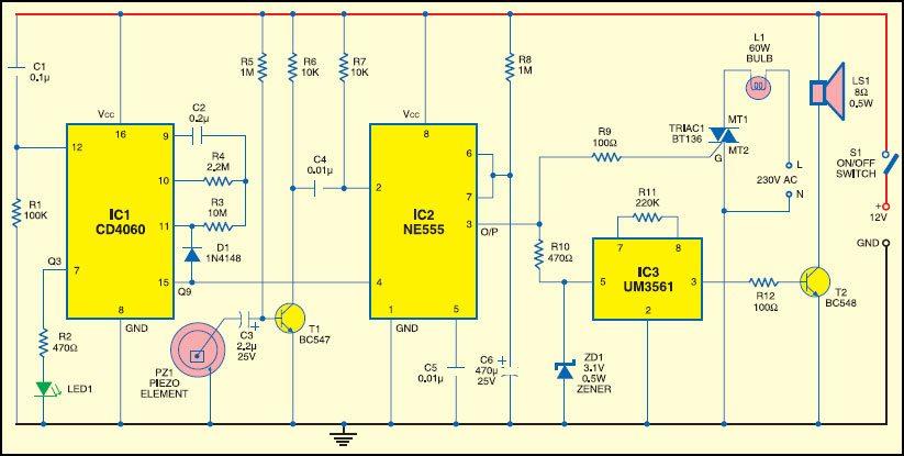 Mechanical Vibration Sensor