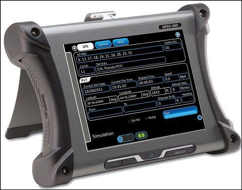 Fig. 6: Aeroflex's GPSG-1000portable satellite simulator