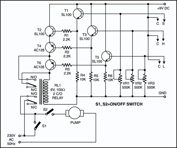 Water-level Controller Circuit