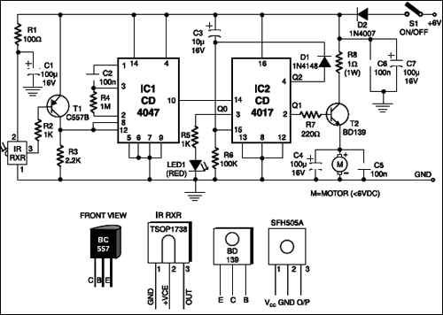 Toy car infra red motor controller full project with circuit diagram toy car circuit asfbconference2016 Image collections