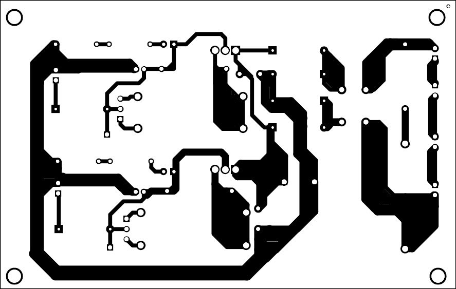 Fig. 2: Actual-size PCB of the power supply