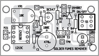 Fig. 4: Component layout of the PCB