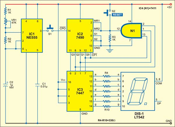 Electronic Dice | Detailed Circuit Diagram Available