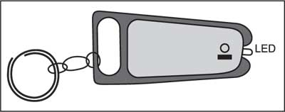 Fig. 2: Suggested enclosure for key chain light