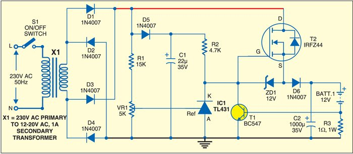 Circuit for Versatile Battery Charger