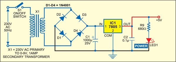 Fig. 3: Power supply for the circuit