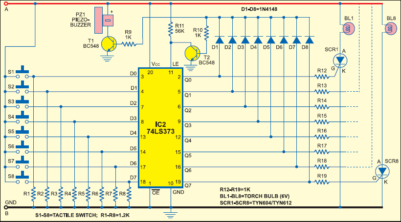 school college quiz buzzer full circuit diagram with explanation rh electronicsforu com electronic quiz buzzer circuit diagram fastest finger press quiz buzzer circuit diagram