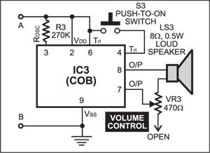 Fig. 3: The COB circuit for 6-in-1 mantraplayer