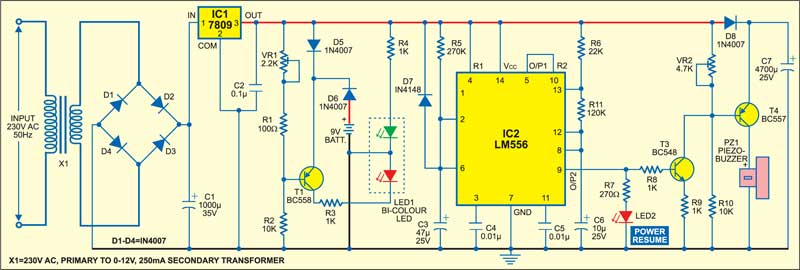 2Z5_1 mains supply failure alarm circuit schematic today wiring diagram