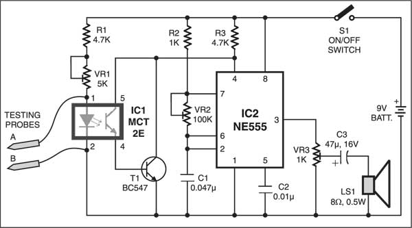 Low resistance continuity tester detailed circuit diagram available low resistance continuity tester circuit ccuart Choice Image