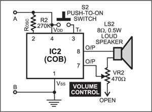 Fig. 2: The COB circuit for 2-in-1 mantraplayer