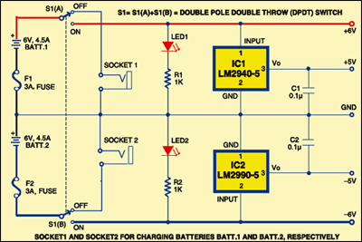 Fig. 1: Circuit for mobile electronic workbench