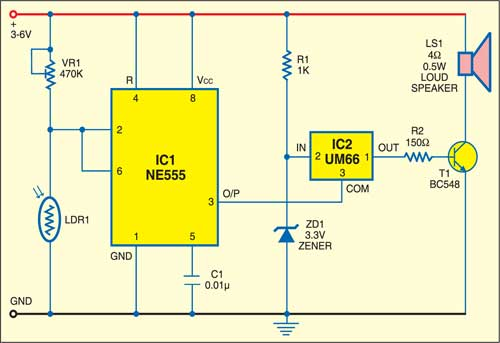 Light Operated Switch Detailed Circuit Diagram Available