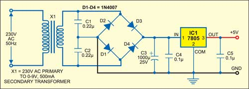 Fig. 2: Power supply circuit