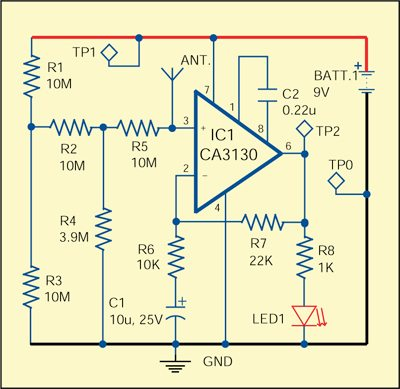 Fig. 1: Circuit of cable tester
