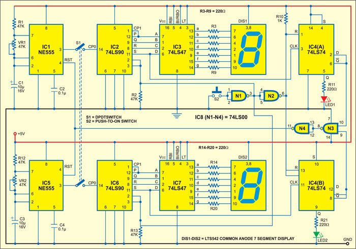 74ls Frequency Counter Schematic Freq Counter Projects Wire Diagrams