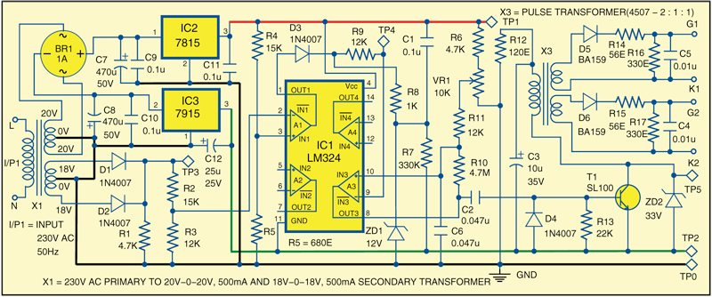 SCR-Controlled EHT Power Supply | Electronics For You