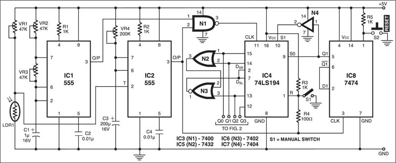Fig. 1: Circuit of the control unit