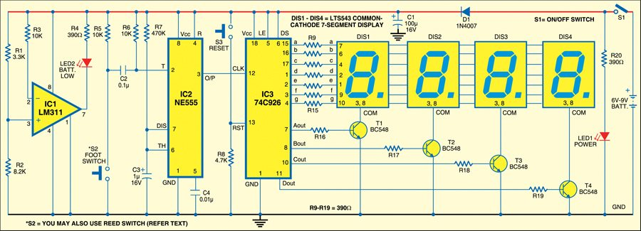 Fig. 2: Circuit of parking counter