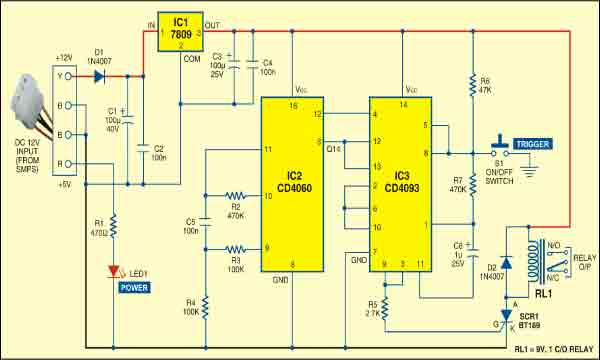 Counter Based PC Timer | Detailed Circuit Diagram Available
