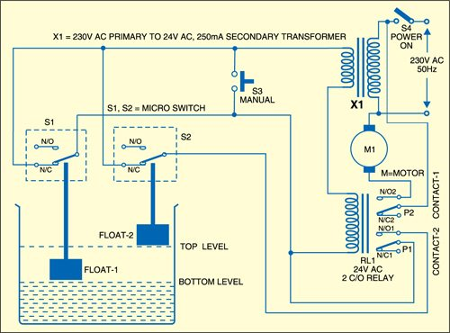 Water Pump Controller Circuit Full Project Details Available