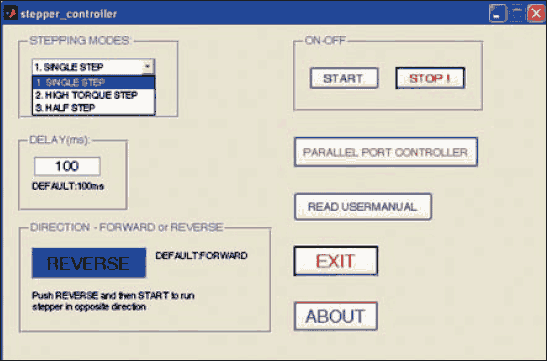 Fig.3: Screenshot of the LED control program output