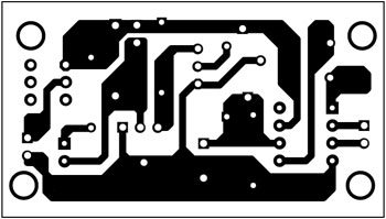Fig. 3: An actual-size, single-side PCB for solder fumes remover