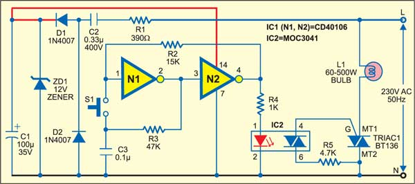Fig. 1: Circuit of the smart switch