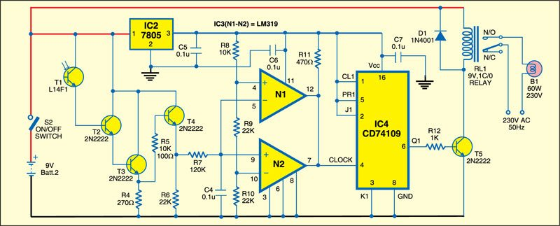 IR remote control for home appliances: Receiver circuit