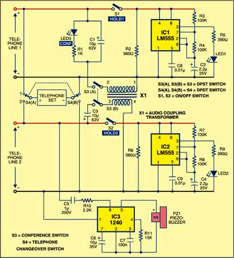 Duophone circuit
