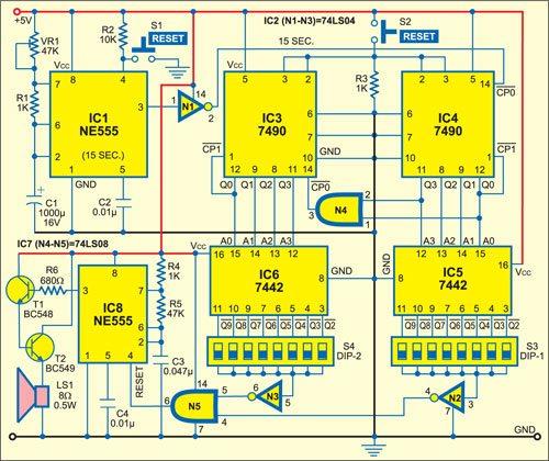 geyser timer circuit