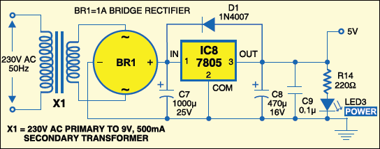 Fig.2: Power supply circuit