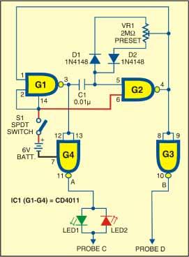 Fig. 1: Circuit of versatile probe