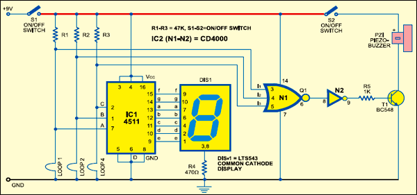 simple digital security system detailed project available rh electronicsforu com simple digital circuit simulator simple digital electronic circuits projects