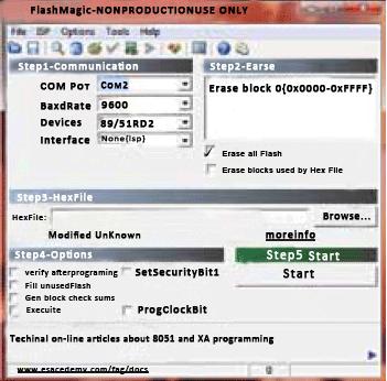 Fig. 9: Screenshot of 'Flash Magic' window