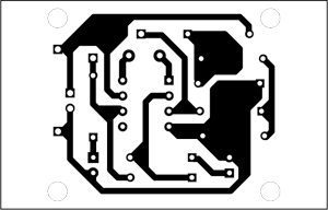 Fig. 2: Actual-size, single-side PCB for cable tester