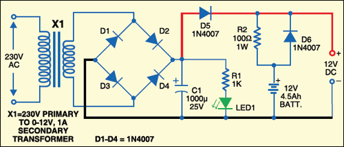 Fig. 2: Power supply with battery backup