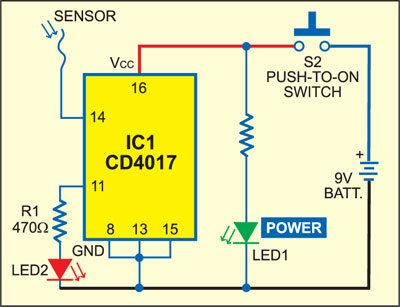 200V Live Wire Scanner Circuit