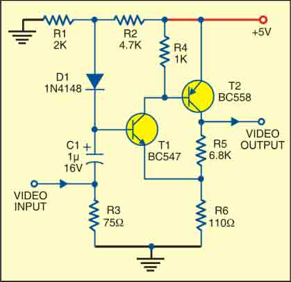 Fig. 2: Circuit of video amplifier