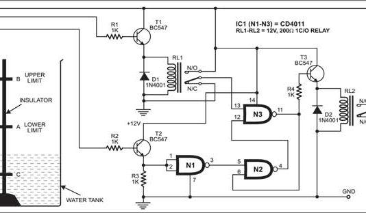 automatic water pump controller circuit
