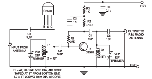 fm booster project full circuit diagram with explanation rh electronicsforu com fm signal booster circuit diagram fm radio signal booster circuit diagram