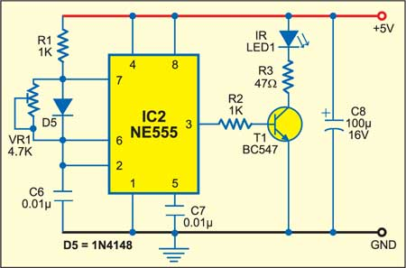 Fig. 3: IR transmitter circuit