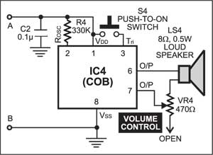 Fig. 4: The COB circuit for 5-in-1 mantraplayer